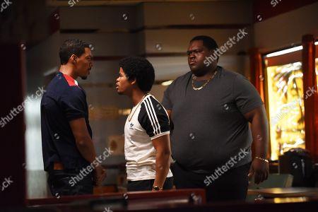 Melvin Gregg as Drew 'Manboy' Miller, Isaiah John as Leon Simmons and Jordan R. Coleman as Fatback