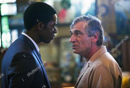 Damson Idris as Franklin Saint and Alon Aboutboul as Avi Drexler