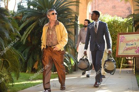 Stock Picture of Alon Aboutboul as Avi Drexler and Damson Idris as Franklin Saint