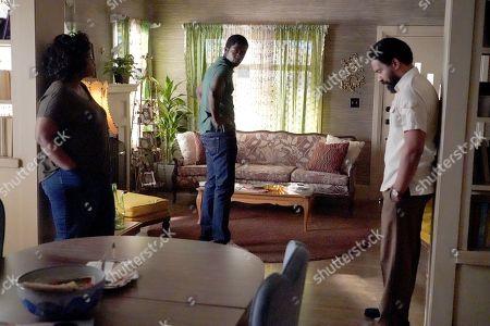 Michael Hyatt as Cissy Saint, Damson Idris as Franklin Saint and Kevin Carroll as Alton Saint