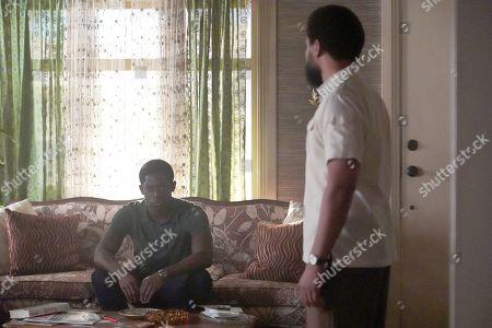 Damson Idris as Franklin Saint and Kevin Carroll as Alton Saint