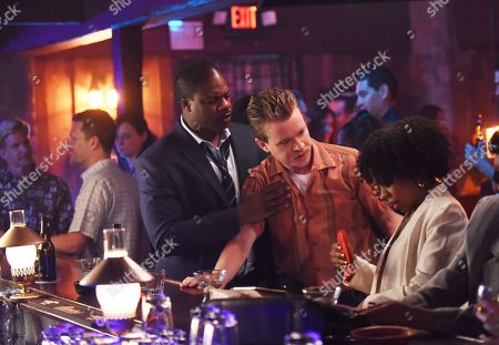 """Stock Image of Marcus Henderson as Andre Wright, Jesse Luken as Officer Herb """"Nix"""" Nixon and Danielle Mone Truitt as Sheila"""