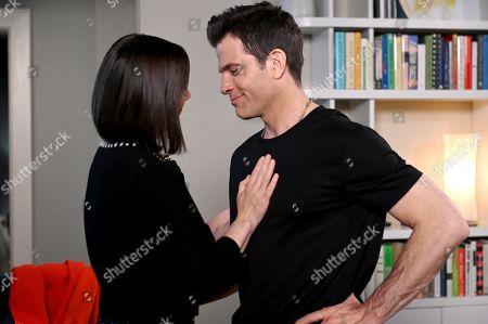 Miriam Shor as Diana Trout and Chris Tardio as Enzo