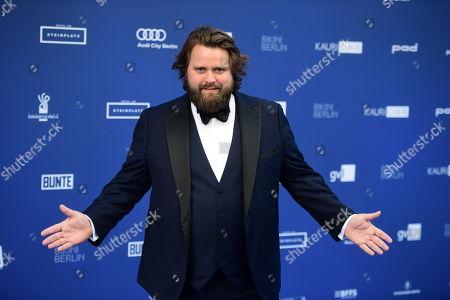 Stock Photo of German-Suisse actor Antoine Monot Jr. arrives to the German Drama Award (Deutscher Schauspielpreis) in Berlin, Germany 13 September 2019.