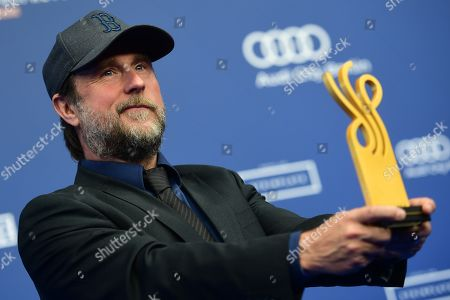 Stock Image of Bjarne Maedel poses with his award in the category Comedy Role during the German Drama Award (Deutscher Schauspielpreis) in Berlin, Germany 13 September 2019.