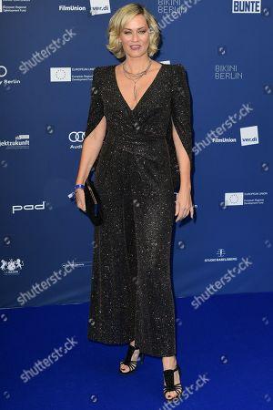 Gesine Cukrowski arrives for the German Drama Award (Deutscher Schauspielpreis) in Berlin, Germany 13 September 2019.