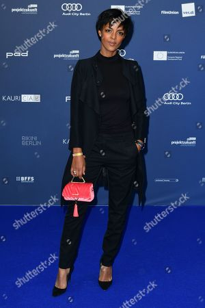 Dennenesch Zoude arrives for the German Drama Award (Deutscher Schauspielpreis) in Berlin, Germany 13 September 2019.