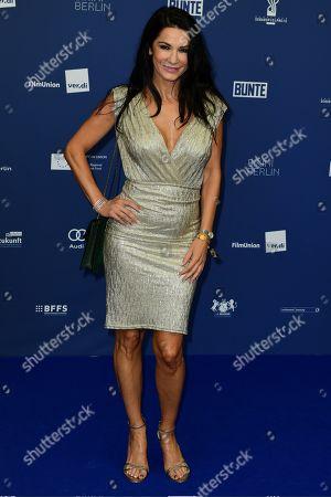 Mariella Ahrens arrives to the German Drama Award (Deutscher Schauspielpreis) in Berlin, Germany 13 September 2019.