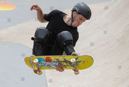 Shaun White of the US competes during the Skate Park World Championship in Sao Paulo, Brazil