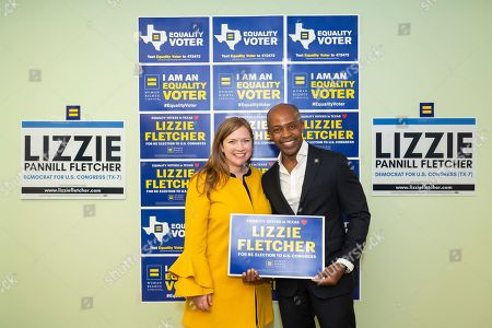 Editorial image of Lizzie Fletcher endorsement, Houston, USA - 13 Sep 2019