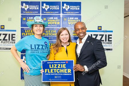 Stock Photo of Human Rights Campaign announces endorsement of Congresswoman Lizzie Fletcher on in Houston