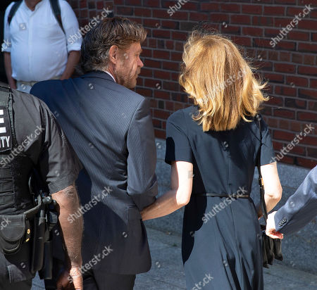 Actor William H Macy (L) looks towards his wife the actress Felicity Huffman (R) as they arrive at the John Joseph Moakley Federal Courthouse for her sentencing in connection with the college admission scandal in Boston, Massachusetts, USA, 13 September 2019. Felicity Huffman is involved in a nationwide scandal where a dozen of people are accused of being allegedly involved in admissions bribery.
