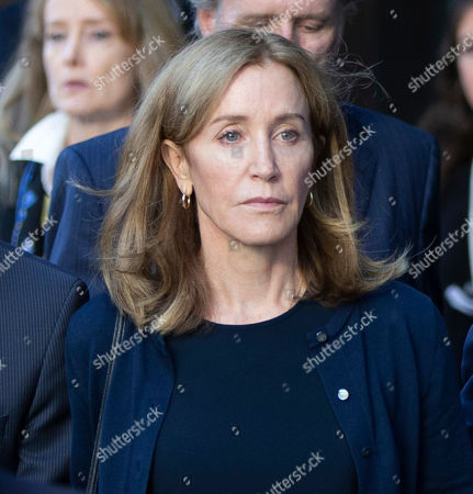 US actress Felicity Huffman exits the John Joseph Moakley Federal Courthouse following her sentencing in connection with the college admission scandal in Boston, Massachusetts, USA, 13 September 2019. Huffman was sentenced to 14 days in prison, she has to pay 30,000 US dollars fine and do 250 hours of community service for her involvement in college admission scandal.
