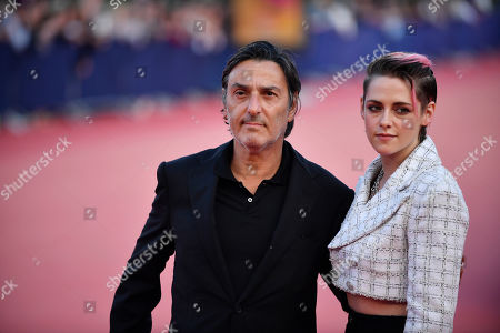 Yvan Attal and US actress Kristen Stewart arrive on the red carpet prior to the premiere of 'Seberg' during the 45th Deauville American Film Festival, in Deauville, France, 13 September 2019. The festival runs from 06 to 15 September 2019.