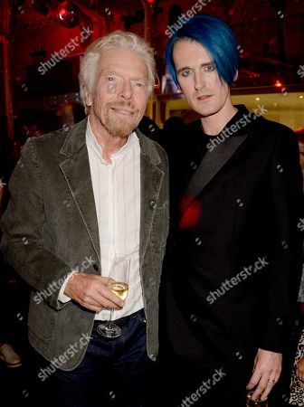 Sir Richard Branson and Gareth Pugh