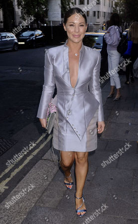Editorial image of Gyunel Couture party, Arrivals, Spring Summer 2020, London Fashion Week, UK - 13 Sep 2019