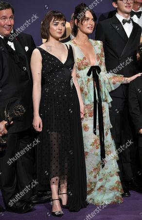 Stock Photo of Maisie Williams and Lena Headey