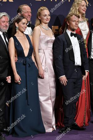 Emilia Clarke, Sophie Turner and Alfie Allen - Drama Series - 'Game of Thrones'