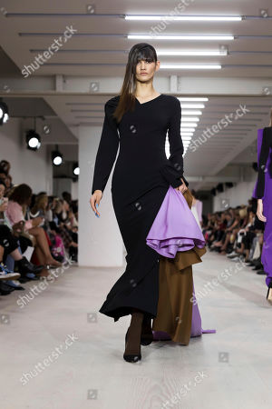 A model wears a creation by Marta Jakubowski at the Spring/Summer 2020 fashion week runway show in London