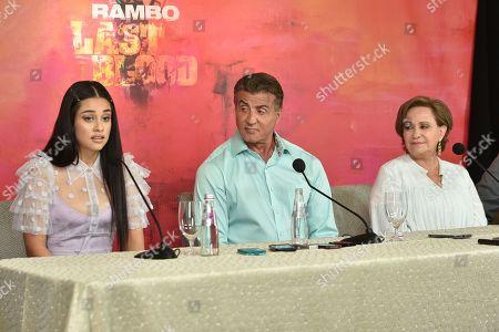Yvette Monreal, Sylvester Stallone and Adriana Barraza