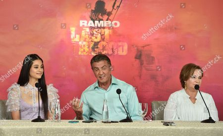 Stock Image of Yvette Monreal, Sylvester Stallone and Adriana Barraza