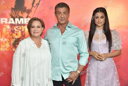 Stock Picture of Adriana Barraza, Sylvester Stallone and Yvette Monreal