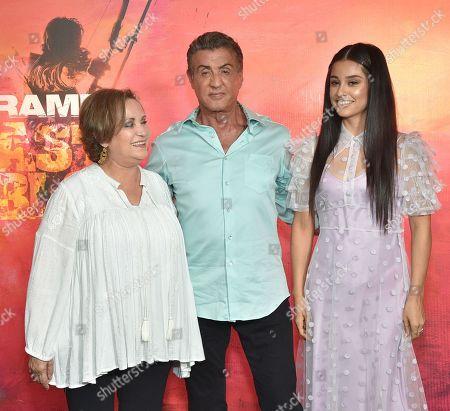 Adriana Barraza, Sylvester Stallone and Yvette Monreal