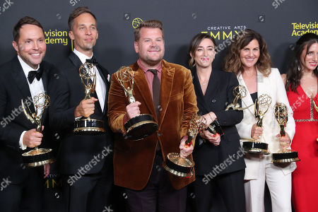 Ben Winston, James Corden, Eric Pankowski, Lord Young, Sheila Rogers and Diana Miller - Outstanding Short Form Variety Series - 'Carpool Karaoke: The Series'