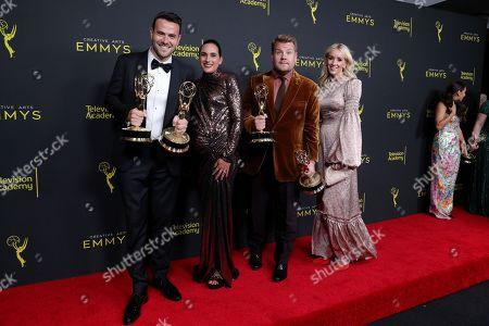 Stock Picture of Ben Winston, Meredith Winston, James Corden and Julia Carey - Outstanding Short Form Variety Series - 'Carpool Karaoke: The Series'