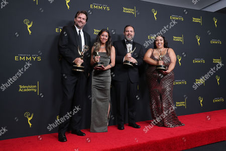 Stock Picture of Tim Pastors, Justin Yungleisch, Lauren Thompson and Geraldine L. Porras - Outstanding Unstructured Reality Program - 'United Shades Of America With W. Kamau Bell '