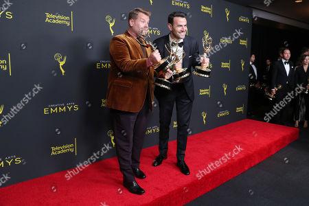Stock Photo of James Corden and Ben Winston - Outstanding Short Form Variety Series - 'Carpool Karaoke: The Series'