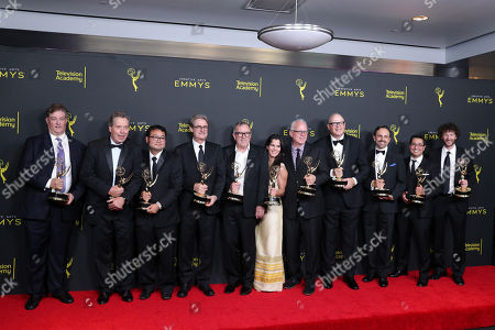 Stock Photo of Al Jean, John Frink, Ryan Koh, Richard Raynis, Tom Klein, Andrea Romero, Mike B. Anderson, Michael Price, Rob Oliver, Eddie Rosas and Carlton Batten - Outstanding Animated Program - 'The Simpsons'