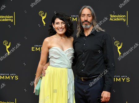 Stock Image of Lisa Edelstein and Robert Russell