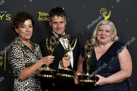 Stock Photo of Nina Gold, Robert Sterne and Carla Stronge - Outstanding Casting for a Drama Series - 'Game of Thrones'