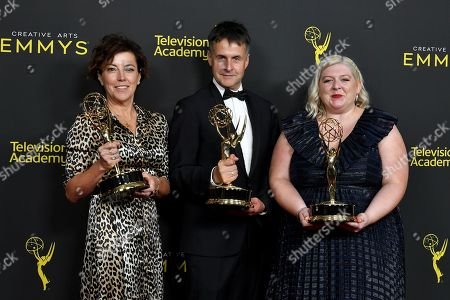 Stock Picture of Nina Gold, Robert Sterne and Carla Stronge - Outstanding Casting for a Drama Series - 'Game of Thrones'