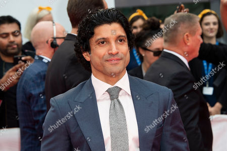 """Farhan Akhtar attends a premiere for """"The Sky Is Pink"""" on day nine of the Toronto International Film Festival at Roy Thomson Hall, in Toronto"""