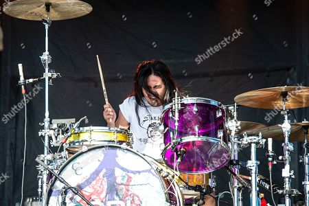 Chris Guanlao of the Silversun Pickups performs during KAABOO 2019 at the Del Mar Racetrack and Fairgrounds, in San Diego, Calif