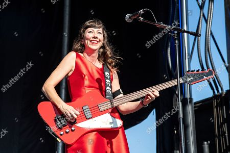 Nikki Monninger of the Silversun Pickups performs during KAABOO 2019 at the Del Mar Racetrack and Fairgrounds, in San Diego, Calif