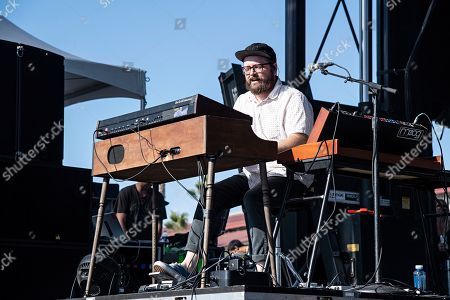 Stock Picture of Joe Lester of the Silversun Pickups performs during KAABOO 2019 at the Del Mar Racetrack and Fairgrounds, in San Diego, Calif