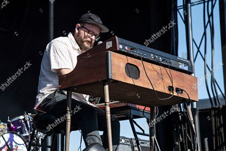 Joe Lester of the Silversun Pickups performs during KAABOO 2019 at the Del Mar Racetrack and Fairgrounds, in San Diego, Calif