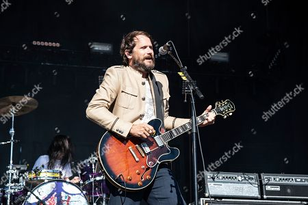 Brian Aubert of the Silversun Pickups performs during KAABOO 2019 at the Del Mar Racetrack and Fairgrounds, in San Diego, Calif