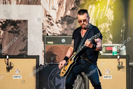 Stock Photo of Billy Duffy of The Cult performs during KAABOO 2019 at the Del Mar Racetrack and Fairgrounds, in San Diego, Calif
