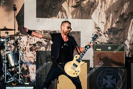 Stock Picture of Billy Duffy of The Cult performs during KAABOO 2019 at the Del Mar Racetrack and Fairgrounds, in San Diego, Calif
