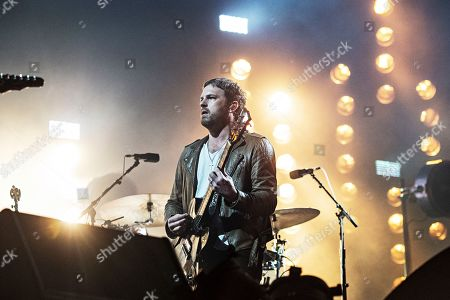 Stock Image of Caleb Followill performs during KAABOO 2019 at the Del Mar Racetrack and Fairgrounds, in San Diego, Calif