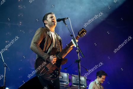 Caleb Followill performs during KAABOO 2019 at the Del Mar Racetrack and Fairgrounds, in San Diego, Calif