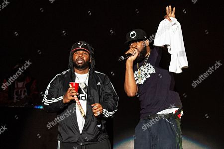 Stock Image of Raekwon Ghostface Killah. Raekwon, left, and Ghostface Killah of Wu-Tang Clan perform during KAABOO 2019 at the Del Mar Racetrack and Fairgrounds, in San Diego, Calif
