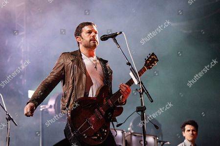 Caleb Followill of Kings of Leon performs during KAABOO 2019 at the Del Mar Racetrack and Fairgrounds, in San Diego, Calif