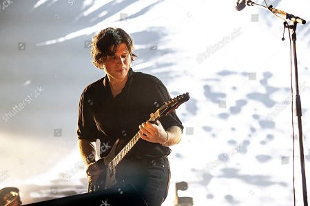 Matthew Followill of Kings of Leon performs during KAABOO 2019 at the Del Mar Racetrack and Fairgrounds, in San Diego, Calif