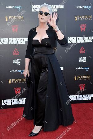 Stock Image of Jamie Lee Curtis attends the 45th Annual Saturn Awards at the Avalon Hollywood, in Los Angeles