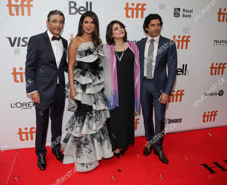 Stock Image of Niren Chaudhary, Priyanka Chopra, Adti Chaudhary, and Farhan Akhtar